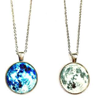 Sale Moon necklace glow in the dark