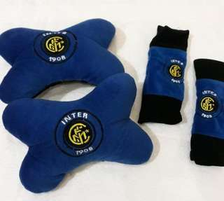 set bantal mobil set car blue