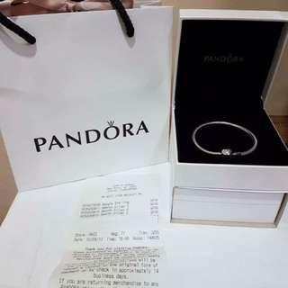 Pandora Smooth Silver Clasp Bracelet