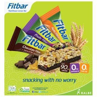 Fitbar 水果麥纖棒 穀物棒 能量棒 健康 減肥 早餐代餐 1 盒 5支裝