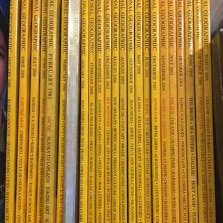 23 copies of National Geographic