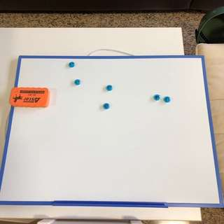 White Board with Eraser and Magnets