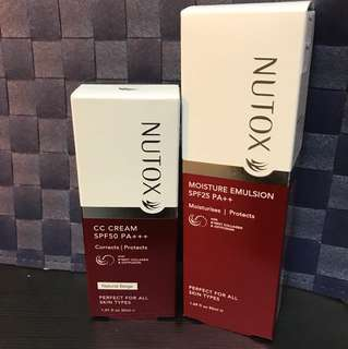 NUTOX Moisture Emulsion and CC Cream