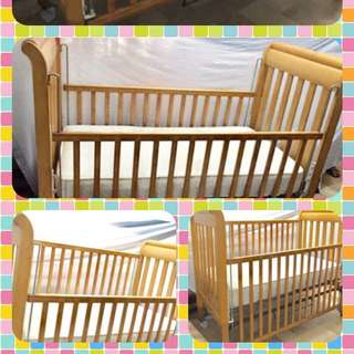 Preloved Wooden Baby Cot or Crib (Imported)