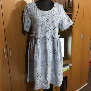 XL SIZE EMBROIDERED DRESS