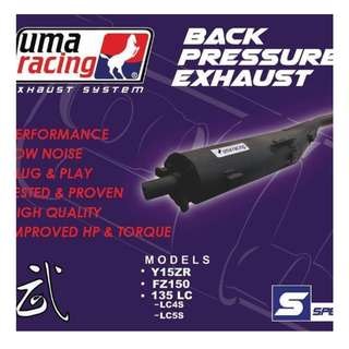 SNIPER 150 STEALTH MOD UMA RACING BACK PRESSURE EXHAUST (original cover can fix back)