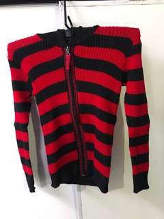 Black and red knitted jacket from Baguio