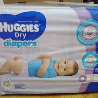 Huggies Dry Diapers S84 x 3