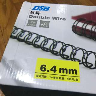 Double Wire Binding Spine 6.4mm