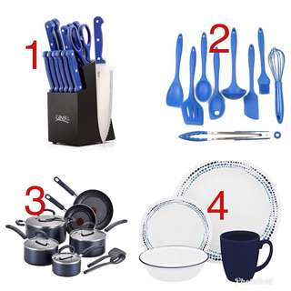 Blue household set