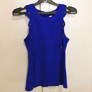 Royal Blue Sleeveless Top