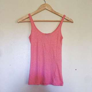 Topshop Basic Cotton Tank top in Coral Pink