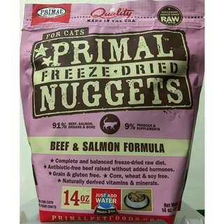 PRIMAL 冷凍脫水牛肉三文魚貓糧14安士  PRIMAL FREEZE-DRIED FELINE BEEF & SALMON FORMULA