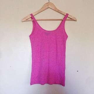 Topshop Basic Cotton Tank top in Dark Pink