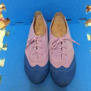 二手 紫藤花牛津鞋