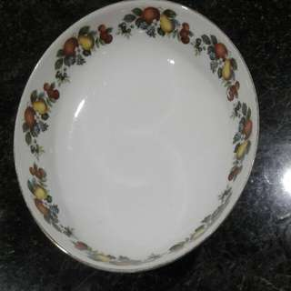 Georgian China Oval Bowl