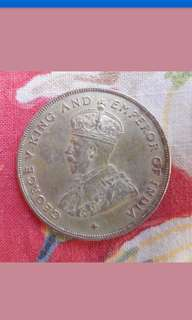 Strait settlement King George v $1 coin 1920 UNC