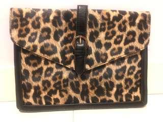 A4 Size Leopard Envelope Bag