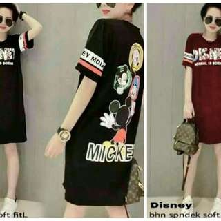 CS7027 dress Disney, Matt spandek, LD-95 PJ-85 fit to L, berat 0.25kg