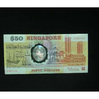 Plastic $50 notes serial no G961712 & H323480