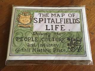 #wallfleurtravels: The Map of Spitalfields Life (Herb Lester Assoc.)