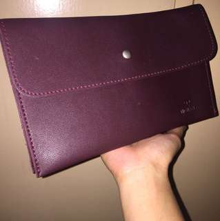 SALE! Michaela Maroon Clutch Bag