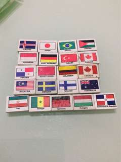 Country Erasers / flag erasers