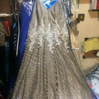 Silver Grey Ball Gown
