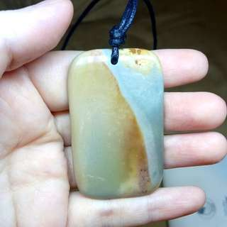 Polychrome Jasper Gemstone pendant natural polished