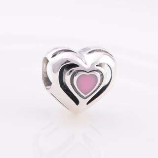 Code MS71 - Layer Hearts 100% 925 Sterling Silver Charm, Chain Is Not Included, Compatible With Pandora