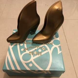 Vivienne Westwood Melissa 金色鞋