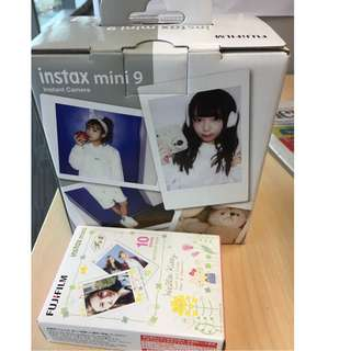 Instax mini 9 instant camera with a pack of 10 instant film