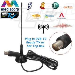 5dBi DVB T2 TV Tuner HDTV Digital TV Signal Booster Portable Antenna Magnetic Base Mediacorp
