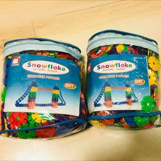 Educational toy( snow flakes) last 3 pieces