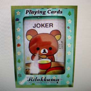 San-x  鬆弛熊 Rilakkuma Playing Cards