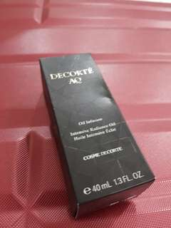Brand new premium decorte AQ OIL INFUSION intensive radiance oil