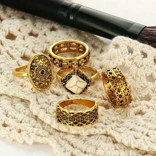 On sale!!! 5pcs Set Knuckle Midi finger Rings