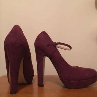 Rubi - Maroon platform heels