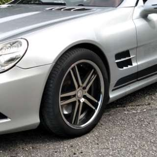 "Mercedes sl 18"" staggered wheels"