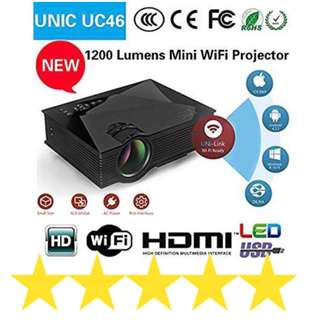 Wifi portable led projector