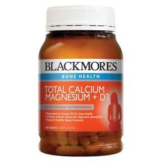 Blackmores Total Calcium Magnesium + D3 活性鈣片D3+鎂配方 200粒  (骨骼健康)