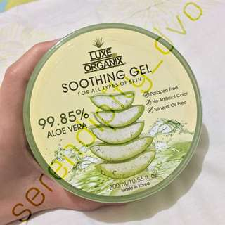 Luxe Organix Soothing Gel 99.85% Aloe Vera (300ml)