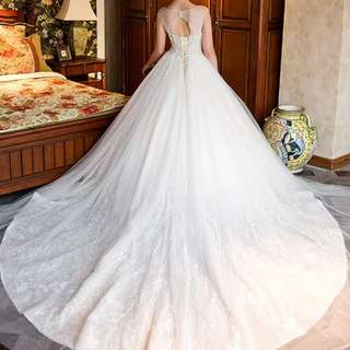 Wedding Dress - butterfly theme with train