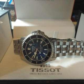 瑞士TISSOT(天梭)--Seastar 1000 自動潛水錶300MM深潛