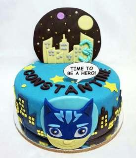 PJ Mask Catboy Fondant Cake