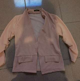 Blazer soft pink bahan adem