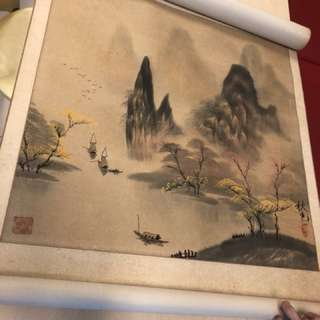 Old scroll hand painting