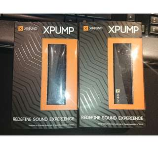 Selling 2 pcs of Xpump Portable audio Booster at $90 each