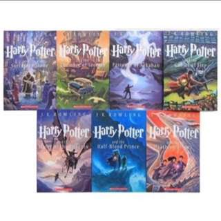 Harry Potter 1-8 Books Set