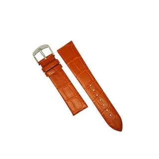 Genuine Croc Pattern Leather Watch Strap in Tan